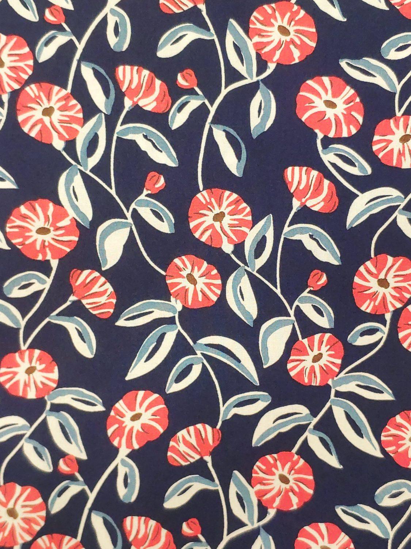 Poppy flower on Navy