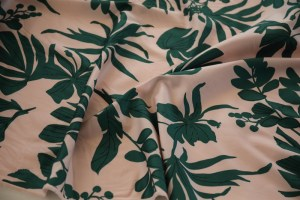 German imported water pink green leaf smooth high-count cotton twill tribute cotton fabric -jdby.PL